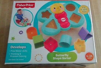 Fisher-Price Growing Baby Butterfly Shape Sorter 6 Months+