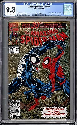Amazing Spider-Man 375 CGC Graded 9.8 NM/M Venom Appearance Marvel Comics 1993