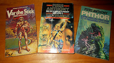 3 Piers Anthony Science Fiction Paperback Books