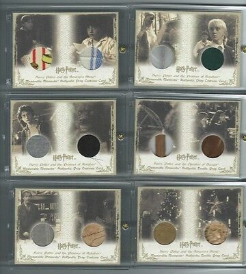 Harry Potter Memorable Moments DOUBLE Prop card DP2 Student Wands & Quills #/115