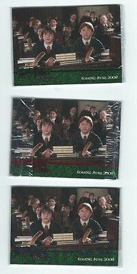 Harry Potter Chamber of Secrets GREEN PROMO set SEALED 4 cards
