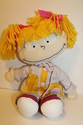 "Nickelodon Rug Rats Angelica Plush  Doll, Yarn Hair, 16"", 2000 Viacom Gund"