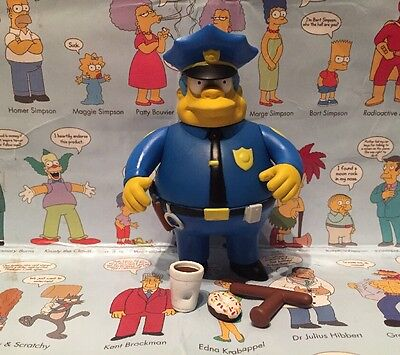 WOS Simpsons Chief Wiggum Figure LOOSE COMPLETE by Playmates