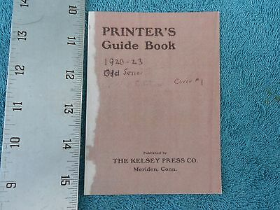 The Printer's Guide Book, 1920-23 Old Series Cover #1, The Kelsey Press Co.
