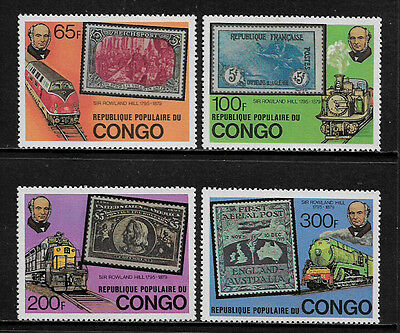 Congo, Rep 499-502 Mint Never Hinged Set - Sir Rowland Hill