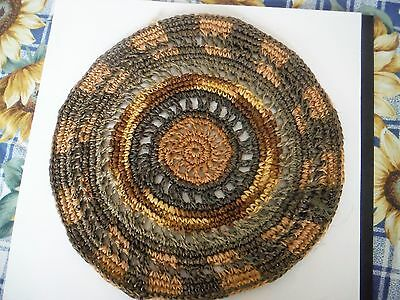 Handwoven Small Round Mat from Ecuador
