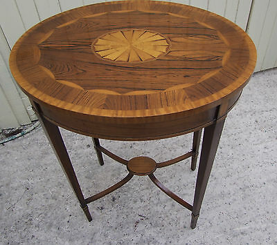Pretty Reproduction Sheraton Style Inlaid Side Table