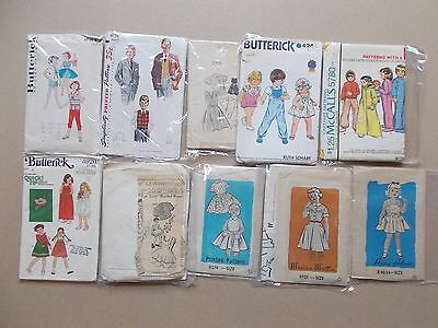 Vint Lot 20 Uncut Old Sewing Patterns Girls Boys Unisex Szs 6 & 7 Some Mail Ordr