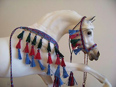 Custom Breyer or Peter Stone Arabian costume halter presentation set 514 dsty bl