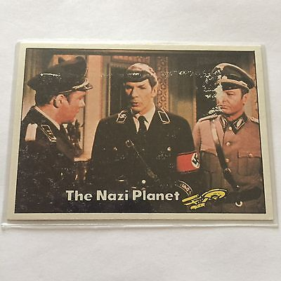 1976 TOPPS SCANLENS STAR TREK CAPTAINS LOG CARD MINT The Nazi Planet #13