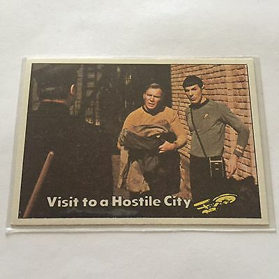 1976 TOPPS SCANLENS STAR TREK CAPTAINS LOG CARD MINT Visit To A Hostile City #14