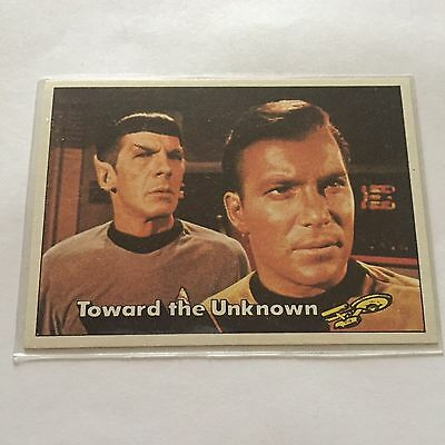 1976 TOPPS SCANLENS STAR TREK CAPTAINS LOG CARD MINT Toward The Unknown #25