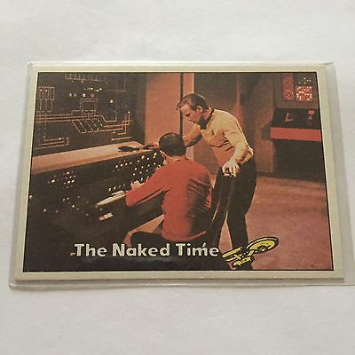 1976 TOPPS SCANLENS STAR TREK CAPTAINS LOG CARD MINT The Naked Time #26