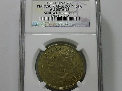 1902 China Kiangsu-Kiangsoo 20 Cash Ngc Au      010