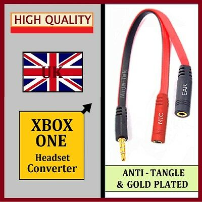 XBOX ONE - HEADSET TalkBack LEAD Converter ADAPTER 3.5mm PC HEADPHONES MIC CABLE