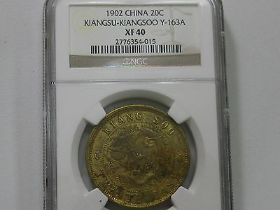 1902 China Kiangsu-Kiangsoo 20 Cash Y-163A  Ngc Xf40      015