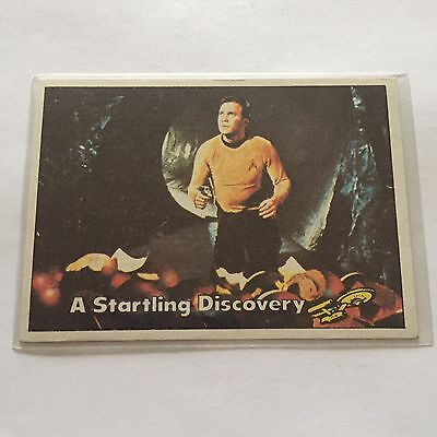 1976 TOPPS SCANLENS STAR TREK CAPTAINS LOG CARD MINT A Startling Discovery #37