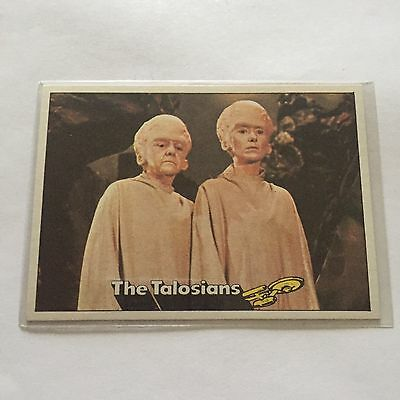 1976 TOPPS SCANLENS STAR TREK CAPTAINS LOG CARD MINT The Talosians #42