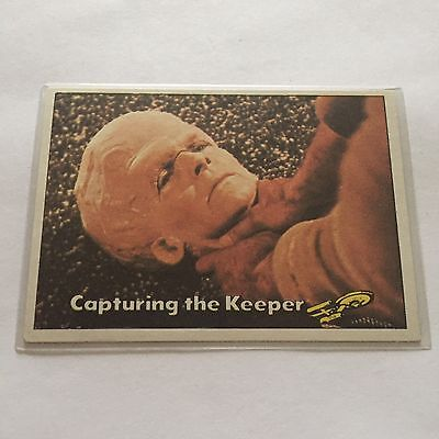 1976 TOPPS SCANLENS STAR TREK CAPTAINS LOG CARD MINT Capturing The Keeper #46