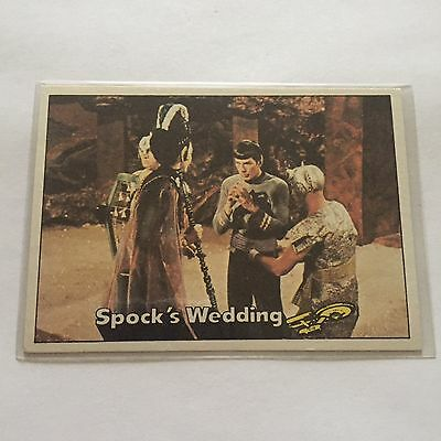 1976 TOPPS SCANLENS STAR TREK CAPTAINS LOG CARD MINT Spock's Wedding #49