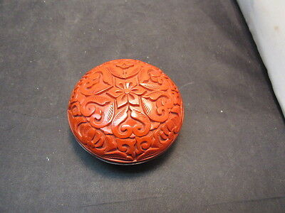 chinese red laquer box