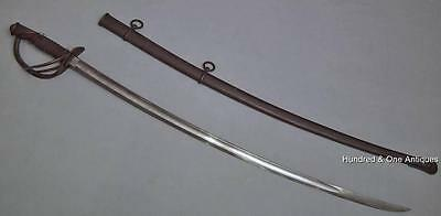 Antique American Civil War Cavalry Sword Sabre Mansfield & Lamb Blade Dated 1864