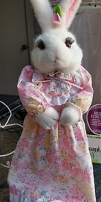 """RARE Vintage 1991 TELCO MOTIONETTES Easter Bunny Rabbit NIB Musical Animated 18"""""""