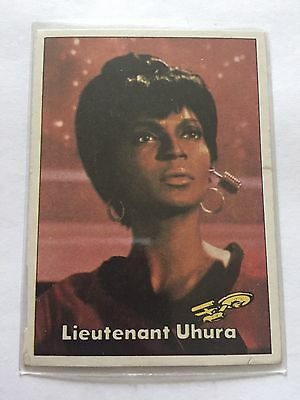 1976 TOPPS SCANLENS STAR TREK CAPTAINS LOG CARD MINT Lieutenant Uhura #67
