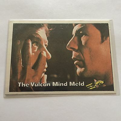 1976 TOPPS SCANLENS STAR TREK CAPTAINS LOG CARD MINT The Vulcan Mind Meld #70