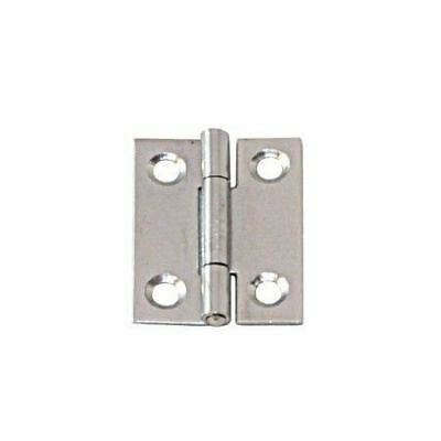 Narrow Hinge Stainless Steel Satin Finish 60 x 34 x 1.2mm LINDEMANN