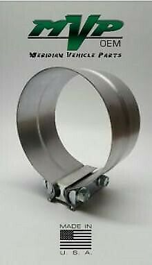 """4/"""" Aluminized Preformed Lap Joint Clamp for Exhaust Muffler Stack Pipe JL40AA"""