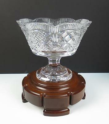 RARE Waterford Master Cutter Centerpiece w/ Stand Cut Crystal Bowl Pedestal