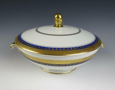 Vintage Rosenthal Aida Royal Blue & Gold Encrusted TUREEN Porcelain Cobalt #2