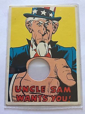 1968 TOPPS Laugh In Punch Out George Schlatter Card #60 UNCLE SAM WANTS YOU