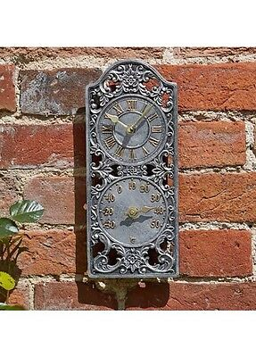 Smart Garden Westminster Wall Clock and Thermometer - 30cm Height.