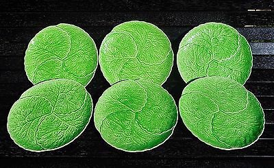 6 x Mintons Majolica Cabbage ware table plates 1912-1950