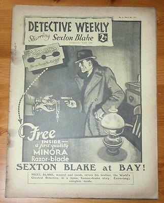 DETECTIVE WEEKLY No 2 4TH MARCH 1933 SEXTON BLAKE AT BAY