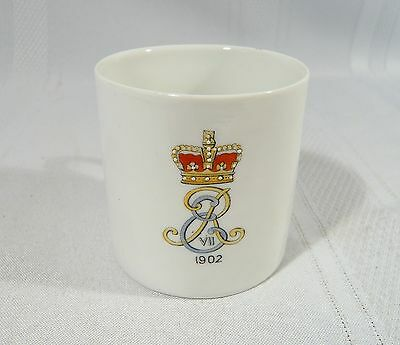 Royalty Coronation Coffee Mug 1902 LITHOPHANE KING EDWARD VII Souvenir Cup
