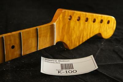 Flamed Maple with Maple Fretboard 22 Frets Strat Neck. Fits Fender Stratocaster!