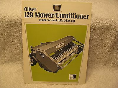 Oliver/White/Minneapolis Moline 129 Mower/Conditioner Dealer's Brochure NOS
