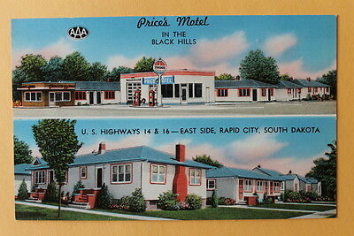 Price's Motel Black Hills  Rapid City South Dakota unmarked vintage c 1950's  e