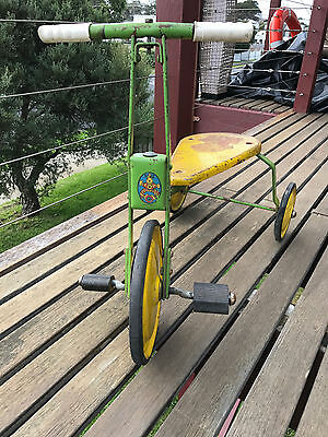 Vintage Big Top Green and Yellow Retro Tricycle Made in Australia