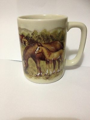 Vintage Horse Foal Country Style Otagiri Japan Mug Cup Collectable Rare
