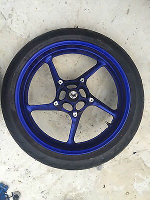 Yamaha Yzf R1 YZFR1 BIG BANG 14B FRONT WHEEL RIM ** GOOD CONDITION ** BREAKING