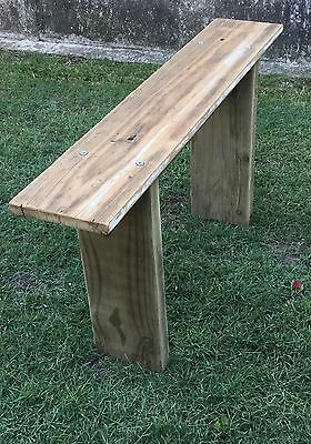 Vintage rustic old timber shabby Industrial Bench Seat