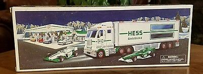 ●HESS●TOY TRUCK AND RACE CARS●c2003●NEW IN BOX●TRUCK AND 2 RACE CARS●3