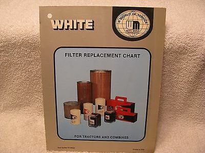 Vintage White Tractor/Combine Dealer's Filter Replacement Chart NICE!!