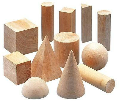 Geo Solids Wood (15 piece) Learning Resource