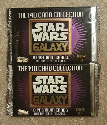 Topps 1993 Star Wars Galaxy Series 1 Trading Card Packs (2)
