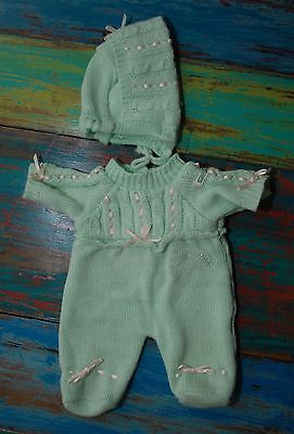 Cabbage Patch Vintage BBB bean bum baby knitted outfit